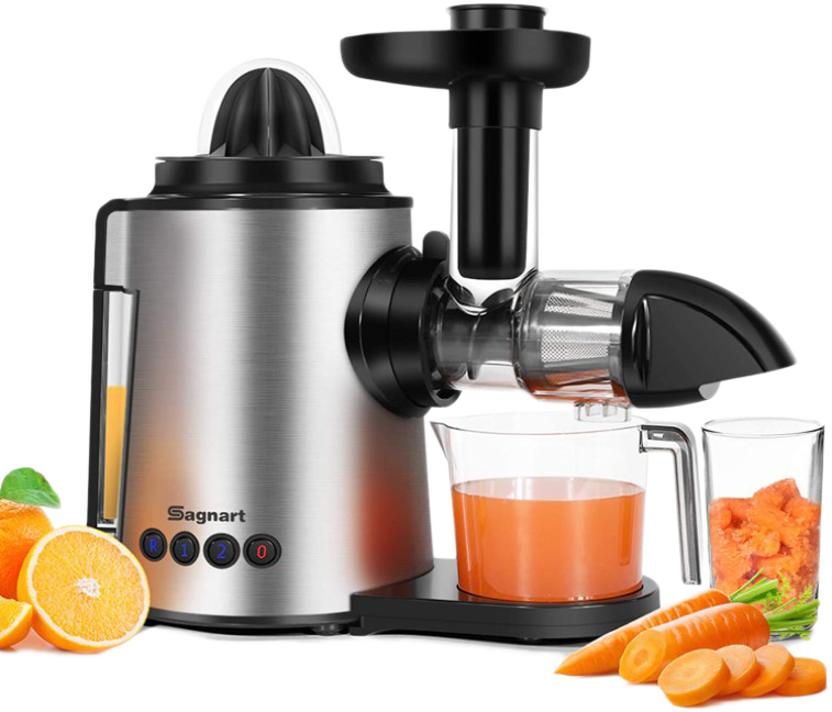 Sagnart Juicer Machines 2 in 1 Slow Masticating Citrus Juicers